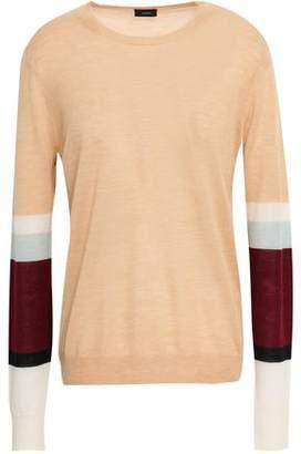 Joseph Color-Block Cashmere Sweater