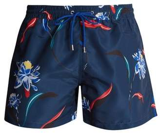 Paul Smith - Floral Print Swim Shorts - Mens - Navy Multi