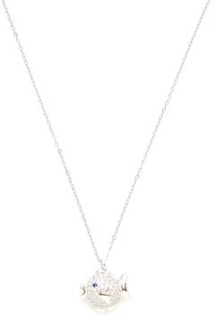 BlowfishPave Diamond Blowfish Pendant Necklace