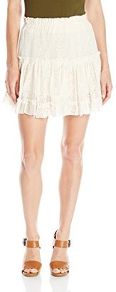 MISA Women's Ruffled Marion Skirt $194 thestylecure.com