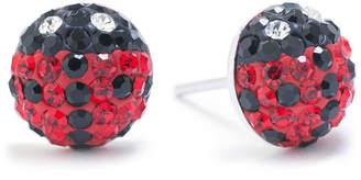 SILVER TREASURES Silver Treasures Multi Color 9mm Stud Earrings