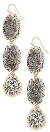 Beaded Linear Earrings