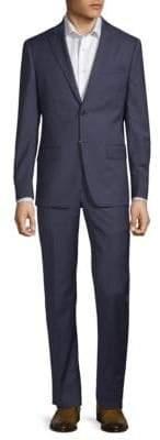 John Varvatos Striped Slim Wool Suit