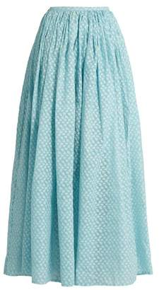Thierry Colson Grisette fil coupé silk-gauze skirt