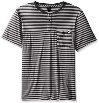 UNIONBAY Men's Short Sleeve Raglan Henley Pocket Tee Shirt