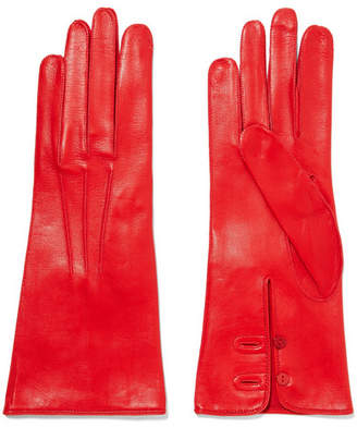 Alexander McQueen Leather Gloves - Red