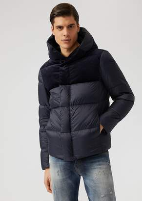 Emporio Armani Down-Filled Jacket In Nylon And Velvet