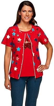 Factory Quacker Short Sleeve Zip Front Jacket and Star Tank