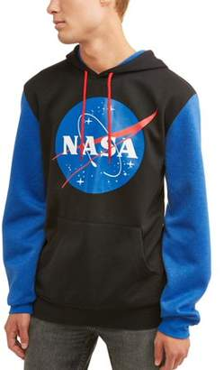 Americana NASA Men's Licensce Color Block Long Sleeve Graphic Hoody