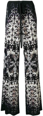 Roberto Cavalli printed flared trousers
