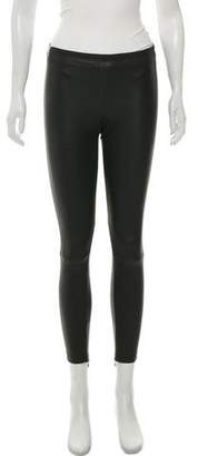 Vince Leather Skinny Leg Pants