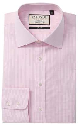 Thomas Pink Hurston Check Athletic Fit Dress Shirt
