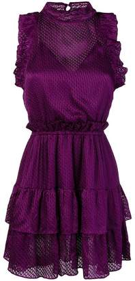 IRO ruffle trim jacquard dress
