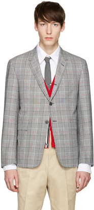 Thom Browne Tricolor Classic Gingham Blazer $2,350 thestylecure.com