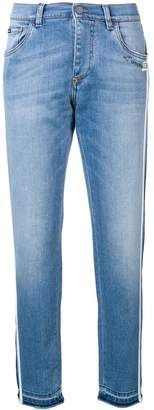 Dolce & Gabbana tapered side stripe jeans