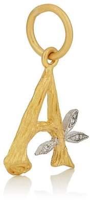 Cathy Waterman Women's Branch Initial Pendant - Gold