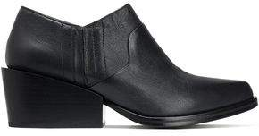 DKNY Textured-Leather Ankle Boots
