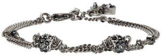 Alexander McQueen Gunmetal Multi Chain Bracelet