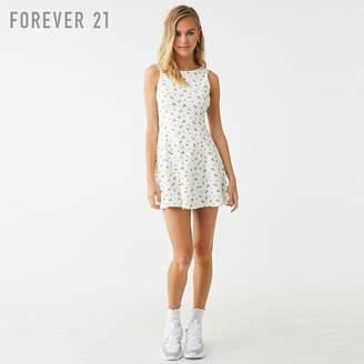 Forever 21 (フォーエバー 21) - Forever 21 フラワーフレアワンピース