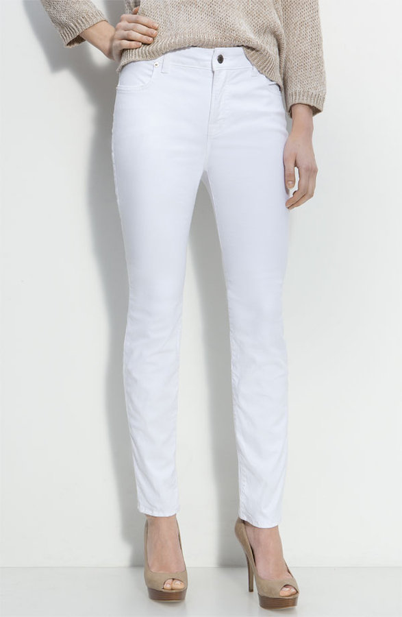 Nordstrom Blue Essence Skinny Twill Ankle Jeans Exclusive)