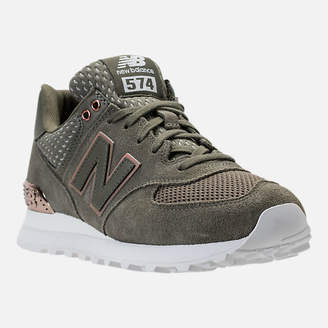 New Balance Women's 574 Rose Gold Casual Shoes