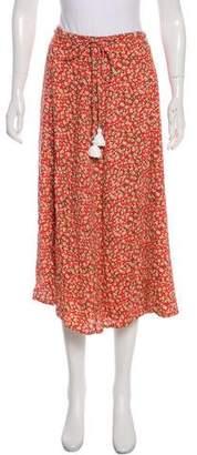 Faithfull The Brand Printed Wrap Skirt w/ Tags