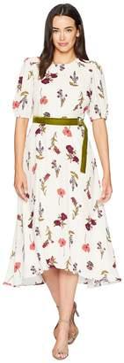 Donna Morgan Printed Maxi with Smocking Detail Women's Dress