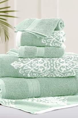 Amrapur Sage Artesia Damask Reversible Yarn-Dyed Jacquard 6-Piece Towel Set