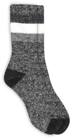 Alaska Knits Women's Timeless Crew Boot Socks - Charcoal 4-10