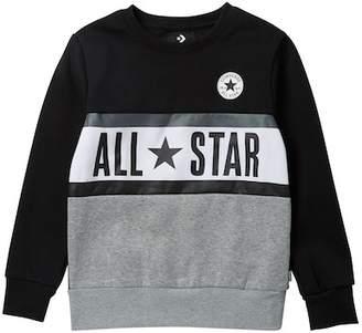 Converse Paneled Crew Sweater (Big Boys)