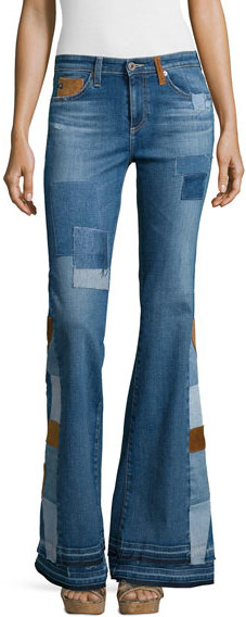 AG JeansAG Angel High-Waist Flare Jeans, 11 Years Patchwork