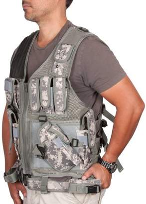 Adjustable Tactical Military and Hunting Vest By Modern Warrior (Digital Camo)