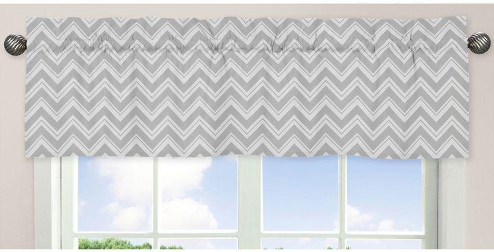 Sweet Jojo Designs Zig Zag Chevron Window Valance in Grey/Yellow