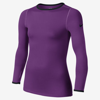 Nike Pro Hyperwarm Fitted 3.0 Crew Girls' Shirt $40 thestylecure.com