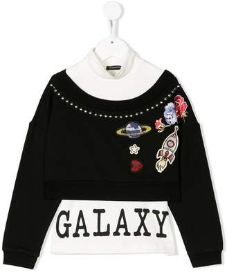 MonnaLisa layered galaxy sweatshirt