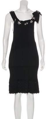 Chanel Embellished Knit Dress