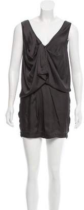 Robert Rodriguez Satin Mini Dress