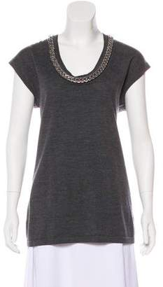 Trina Turk Wool Embellished Top
