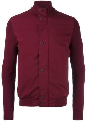 Ermenegildo Zegna stand up collar contrast jacket