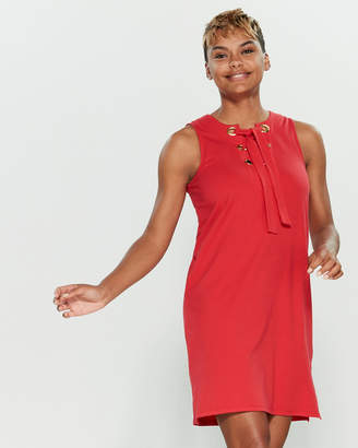 MICHAEL Michael Kors Sleeveless Shift Laced Dress