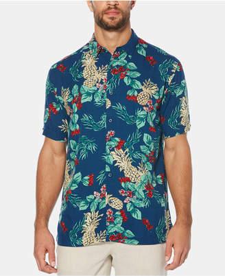 Cubavera Men's Pineapple Floral-Print Short-Sleeve Shirt