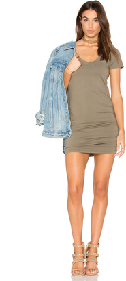 Michael Stars Ruched Mini Dress $88 thestylecure.com