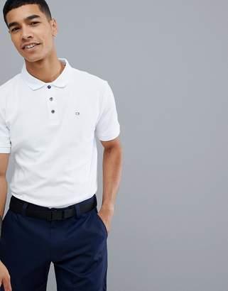 Calvin Klein Golf Polo with Logo In White C9161