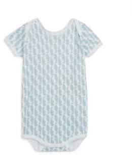 Baby Boy's Neapolitan Archipelago Horsea-Print Short-Sleeve Bodysuit