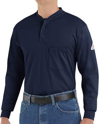 Bulwark Flame-Resistant Long-Sleeves Henley Tee - Big & Tall