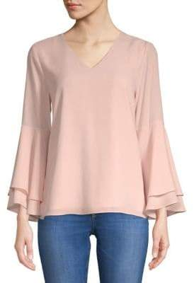 Layered Bell-Sleeve Blouse