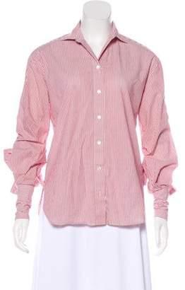 Robert Rodriguez Striped Button-Up Top