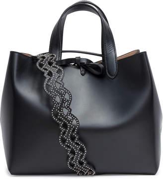 Alaia Black studded strap tote bag