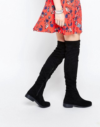 ASOS KEEPER Flat Over The Knee Boots $81 thestylecure.com