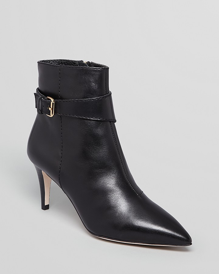 Diane von Furstenberg Pointed Toe Booties - Art High Heel